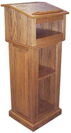 Ornate Lectern: Perfect for smaller applications or for secondary speakers, Lecterns feature smaller dimensions and simpler designs than our pulpits. - Iowa Prison Industries