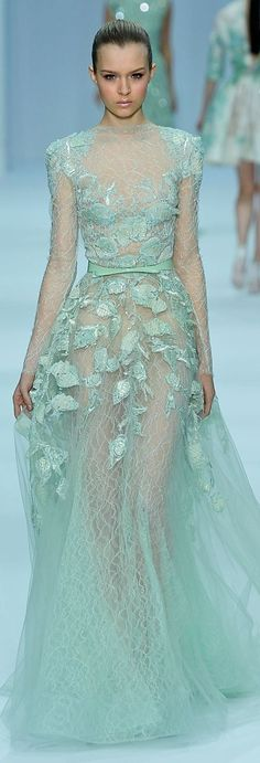 Image result for mint color couture fashion