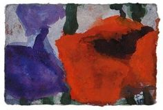 Artwork by Klaus Fussmann, Poppy and Iris, Made of Gouache on strong laid paper