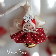 Trillino by Laura Tosi - Salvabrani Diy Christmas Angel Ornaments, Christmas Fairy, Etsy Christmas, Handmade Ornaments, Christmas Bells, Christmas Angels, Handmade Christmas, Christmas Tree Decorations, Christmas Projects