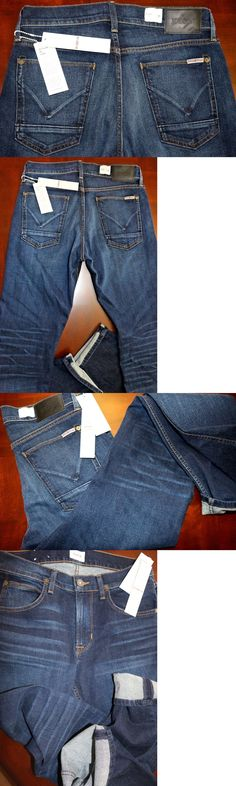 Jeans 11483: New Hudson Men S Byron Jeans Slim Straight Fit Size W30 L32 $198.00 -> BUY IT NOW ONLY: $49.99 on eBay!