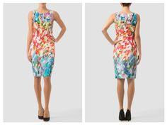 ¿Te gustan los vestidos frescos y coloridos? Entonces Joseph RIbkoff tiene para ti este hermoso diseño muy original y encantador.