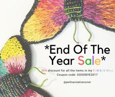 *End Of The Year SALE* in my Folt Bolt Shop until 31 December/2017  Apply Coupon Code: GOODBYE2017 for 25% discount