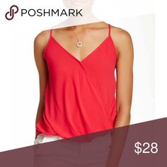 Lush wrapped front tank Wardrobe staple, flattering tank can take you from the office to date night Lush Tops