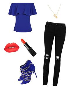 """blue"" by fiorella-malatesta on Polyvore featuring Boohoo, Sergio Rossi, Lime Crime and NARS Cosmetics"