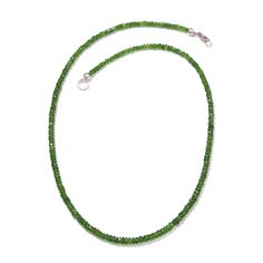 Russian Diopside Bead Necklace (18 in) in Platinum Overlay Sterling Silver Nickel Free TGW 45.860 cts.