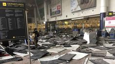 Brussels Airport Zaventem after terrorist attack Brussels Airport, Paris Attack, Metro Station, International Airport, Puerto Rico, Istanbul, At Least, Around The Worlds, This Or That Questions