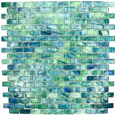 Bohemia - 1 x Glass Tile in Mallard 12 x 12 Paper Faced Sheets - HotGlass
