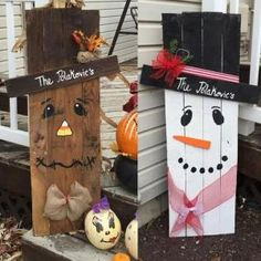 Reversible scarecrow / snowman by jami