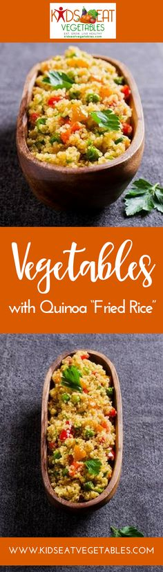 """Sprinkled on salads, as a side dish or added to vegetables, quinoa is a staple in our home. This recipe is a simple way to use cooked quinoa to create a quick, easy, 10-minute veggie""""fried-rice"""". Perfect as a side for dinner or a tasty lunch."""