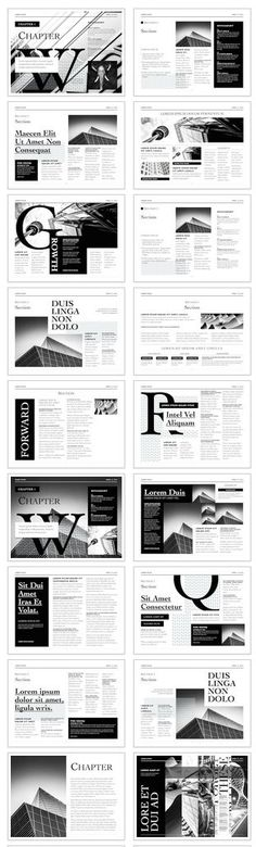 The Editorial Template for iBooks Author -Form and function converge in the Editorial Template to create a look of sophistication and style. #newspaper #apple #selfpublishing