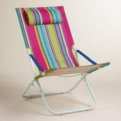 One of my favorite discoveries at WorldMarket.com: Thai Stripe Beach Chair