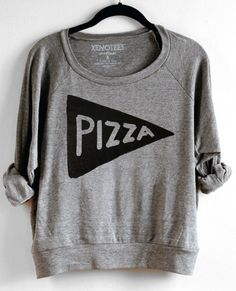 pizza grey sweater