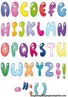 Abecedario letras bonitas para escribir a mano buscar - Letras decorativas para habitaciones infantiles ...