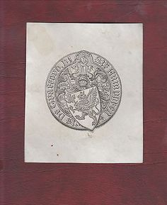 Ex libris #armorial #bookplate. sir humphrey #francis de trafford  bt.,  View more on the LINK: http://www.zeppy.io/product/gb/2/141893175928/