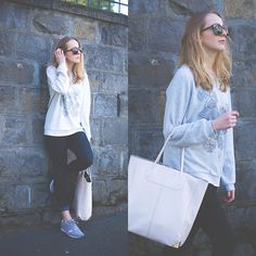 Ganni Sweater, Levi's® Jeans, Lacoste Sneakers, Alexander Wang Tote, Céline Sunnies