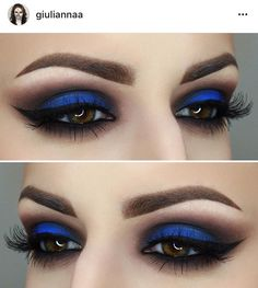 Gorgeous Makeup: Tips and Tricks With Eye Makeup and Eyeshadow – Makeup Design Ideas Blue Eyeshadow Makeup, Eye Makeup Tips, Smokey Eye Makeup, Glam Makeup, Skin Makeup, Beauty Makeup, Blue Eyeshadow Looks, Blue Makeup Looks, Blue Smokey Eye