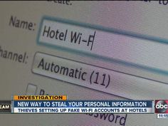 Hotel scammers with fake wi-fi want your credit card information - Watch hotel report now on HOTELIER TV: http://www.hoteliertv.net/international/hotel-scammers-with-fake-wi-fi-want-your-credit-card-information/