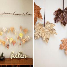 Tuto : Guirlande de feuilles mortes