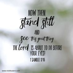 1 Samuel 12:16❤️️