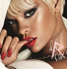 Rihanna RiRi  MAC holiday collection 2013, the collection in another installment with MAC  and features the return of RiRi Woo, along with two new Lipsticks: Pleasure Bomb and Bad Girl RiRi. Also featuring Nail Lacquer, Superslick Liquid Eye Liner, Veluxe Pearlfusion Shadow, Bronzing Powder and the double-ended 217 Blending Brush and the 239 Eye Shader Brush. This limited-edition collection is encased in exclusive white-pearl packaging with RiRi's rose-gold detailing.
