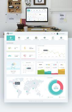 Admin Dashboard Product UX - Clean UI Design on Behance Dashboard Examples, Dashboard Interface, Analytics Dashboard, Financial Dashboard, Business Dashboard, Desktop Design, Design Ios, Design Layout, Report Design