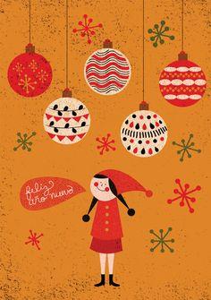 Christmas 2012 by Monica Andino, via Behance