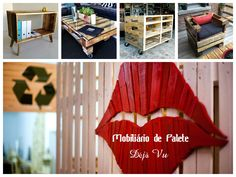 """#Mobiliário em #madeira reciclada de palete, #restauro e #reciclagem de móveis, produtos caseiros, produtos portugueses, no #caseiropt por """"Déjà vu"""" em Sintra."""