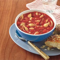 Pasta e Fagioli Soup #recipe Pasta E Fagioli Soup, Pasta Soup, Easy School Lunches, Bag Lunches, Winter Soups, Crock Pot Soup, Soup And Salad, 2015 Winter, Winter Time