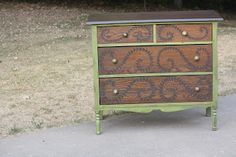 Beautiful green and wood dresser-Must do!