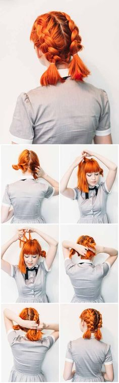 [ Quick And Easy Hairstyles For School : Best Hairstyles For Teens - Double Dutch Pigtails for Short Hair- Easy And Cute Haircuts And Hairstyles For Teens Trendy Haircut, Cute Haircuts, Popular Haircuts, Haircut Styles, Bob Haircuts, Free Haircut, Haircut Short, Layered Haircuts, Medium Length Hair With Bangs