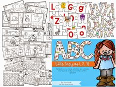 Alphabet Anchor Charts, Printables,  Games!!