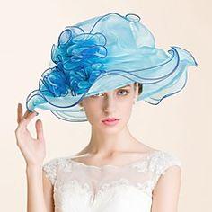 Women's Organza Headpiece-Wedding / Special Occasion / Casual / Outdoor Hats 1 Piece Head circumference  57cm – USD $ 59.98