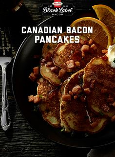 Anything can be breakfast food, if you make it into pancake shapes. Even mashed potatoes. Brunch Recipes, Breakfast Recipes, Pancakes And Bacon, Bacon Potato, Love Food, Fun Food, Canadian Bacon, Meals In A Jar, The Best