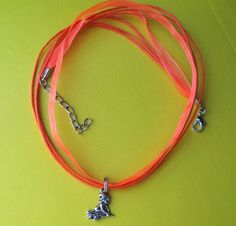 TRAVELING WITCH necklace on ribbons and cords. $9.00!!! What an amazing price!!  Halloween!