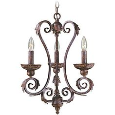 World Imports Medici Collection 3-light Mini Chandelier   Overstock™ Shopping - Great Deals on World Imports Chandeliers & Pendants