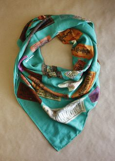 ticket printed scarf / color me caitie