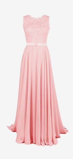 Dressystar Long Bridesmaid Lace Appliques Prom Dresses Scoop Party Gowns Backless
