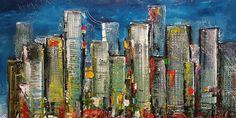 New York City, schilderij van Patrick van Haren, Patrick van Haren | Abstract | Modern | Kunst