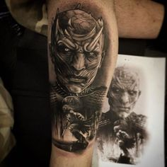 DRACARYS! 30 Tattoos of Game Of Thrones >> The Night King / King of The White Walkers | Hardhome Battle (2015)