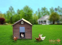 Amazon.com : Chicken Coop / House Metal Pop Hole / Door : Patio, Lawn & Garden