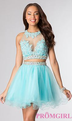Shop short prom dresses and short formal gowns at PromGirl. Short prom dresses, formal short dresses, semi-formal short dresses, short party dresses for prom, and short dresses for prom Pretty Prom Dresses, Sweet 16 Dresses, Dressy Dresses, 15 Dresses, Cute Dresses, Beautiful Dresses, Dress Casual, Two Piece Homecoming Dress, Homecoming Dresses