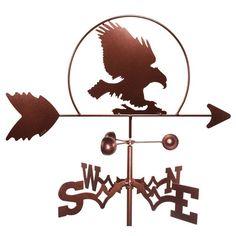 SWEN Products Bald Eagle Bird Weathervane - 1018-GARDEN