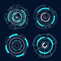 Circle Futuristic Interface Technology Hud Vector Design.
