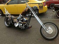 Like This Chopper Bike. Chopper Motorcycle, Bobber Chopper, Motorcycle Style, Custom Choppers, Custom Motorcycles, Custom Bikes, Sidecar, Old School Chopper, Harley Davidson Chopper