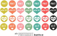 """How to add a custom """"PIN IT"""" button to your blog.  (anyone trying to make money off of their blog should do this!)"""