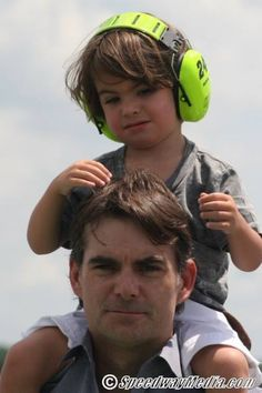 Jeff Gordon and his son, Leo. 2013