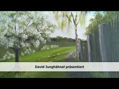 Videomalkurs für dieses Frühlingsbild - gemalt mit Acrylfarben