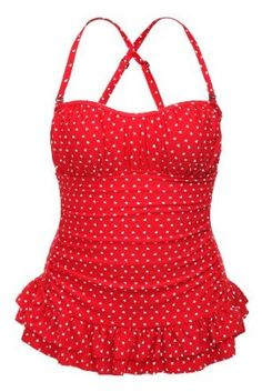 Torrid Plus Size Retro Chic By Torrid - Red With White Hearts One-Piece Swimsuit