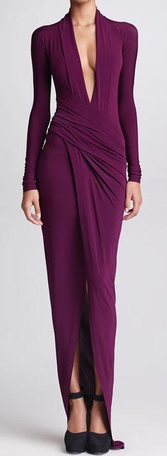 Donna Karan....purple gown.